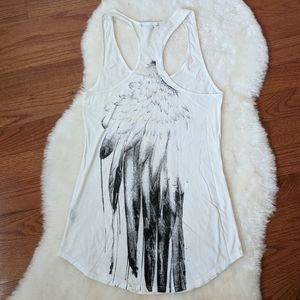UO truly madly deeply feather tank racerback